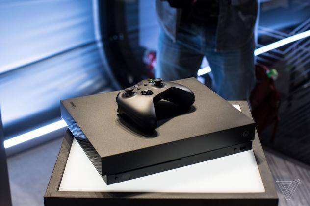 microsoft a d voil sa console xbox one x. Black Bedroom Furniture Sets. Home Design Ideas